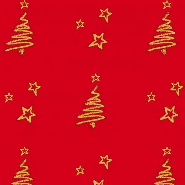 Tannenhain auf rotem Papier