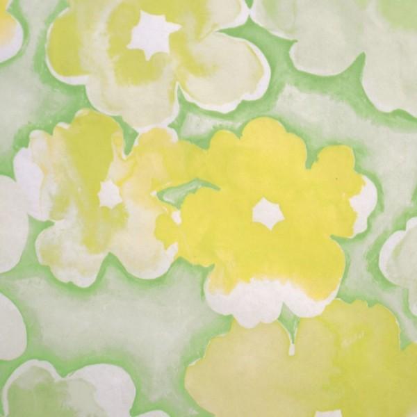 FlowerPower Gelb Lind Maigrün
